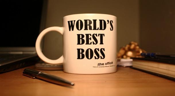coffee mug which reads world's best boss