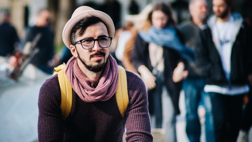 hipster ponders
