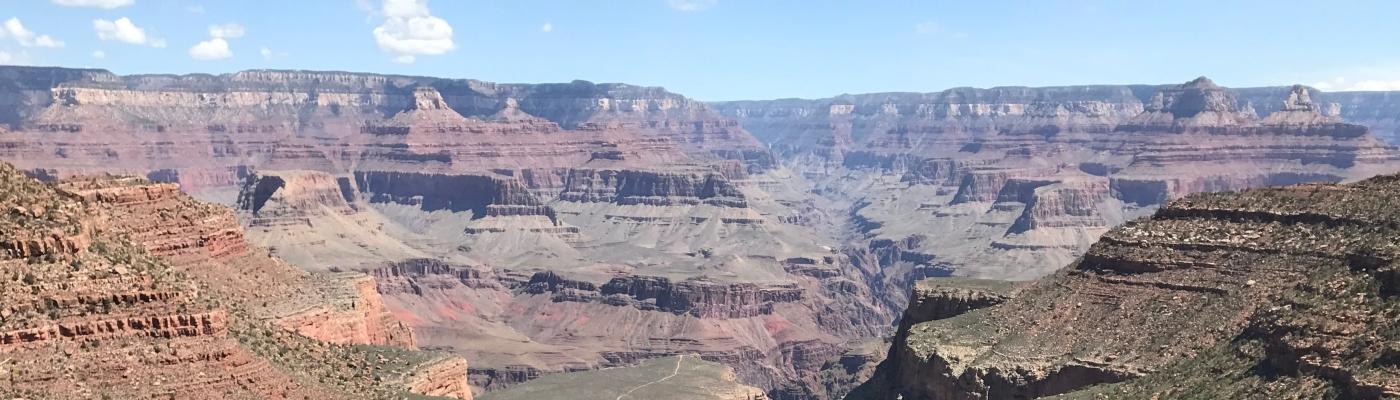 bright angel trail at grand canyon